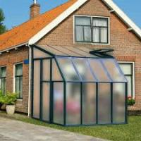 Wholesale Green Modular UV Polycarbonate Lean to Greenhouse With 4mm PC Panel / Aluminum Frame from china suppliers