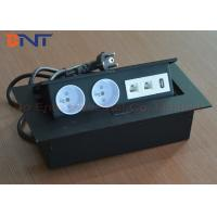 Wholesale Rectangle Press Button Tabletop Hidden Pop Up Power Socket With HDMI / RJ45 from china suppliers