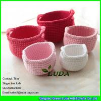 Wholesale LDMX-005 colorful cotton rope crochet handbag fashion small ballon for beach bag from china suppliers