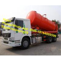 Wholesale 15000L/15m3 Sinotruk Howo EuroII Sewage Pump Truck Vacuum Truck from china suppliers