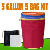 Wholesale Hydroponics Bubble hash Bag Extraction 5 Gallon 5 Bag Kits from china suppliers