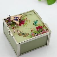 Wholesale Wedding Gifts EU Style Glass Painting Jewelry Box from china suppliers
