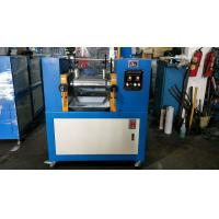 Wholesale Blue Color Rubber Testing Machine / Lab Two Roll Mill 160*350mm Roller Size from china suppliers