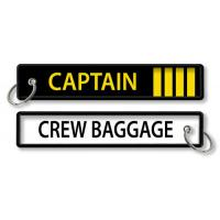 Wholesale Captain Four Bars Crew Baggage Keychain Airlines Aviation Gift Tag from china suppliers