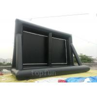 Wholesale 0.55 PVC Tarpaulin Outdoor Inflatable Projection Screen Portable For Family / Commercial from china suppliers