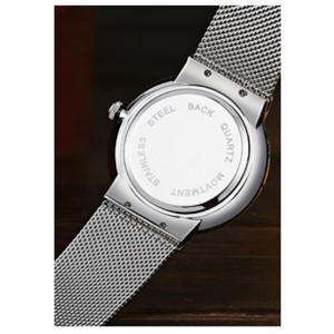 Quality Customiz logo fashion alloy wrist watch with S/S mesh band ,quartz movement wrist watch for sale