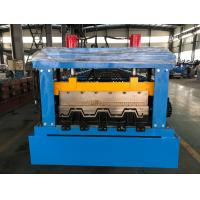 Wholesale Manual Decoiler Floor Metal Deck Roll Forming Machine 85mm Shaft 30 Stations from china suppliers