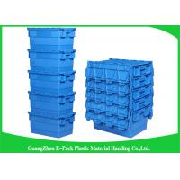 Quality Packaging  Logistic Big Plastic Containers , Distribution Tote With Hinged Lid Rentable Moving for sale