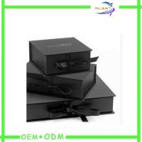 Wholesale Ribbon Closure Flat Folding Magnetic Closure Gift Box Custom Print from china suppliers
