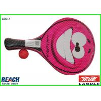 Wholesale Non Toxic Rose Beach Ball Racket For Children, Smiling Face Printed from china suppliers