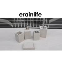 Wholesale Sandstone Bathroom Accessories Sets / 5Pcs Grey Modern Modern Bath Accessories from china suppliers
