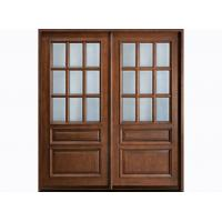 Wholesale Waterproof Custom Timber Doors With Natural Wood Veneer Frame from china suppliers