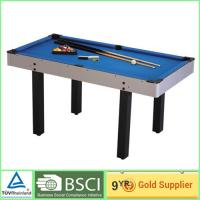 Quality OEM teenagers and adults billiard pool table With  5mm PB bedplate 12mm MDF for sale
