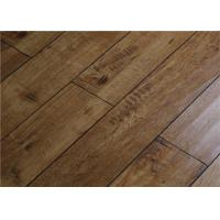 Quality Maple Floating Distressed Laminate Flooring  with V groove CE TUV SGS for sale