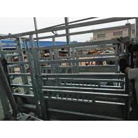 Wholesale 1.8M X 2.1M Cattle yard panels hot dipped galvanized 14 microns silver painted from china suppliers