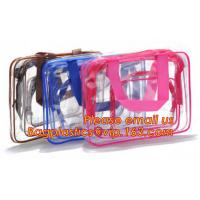 Wholesale Portable clear pvc cosmetic bag women waterproof travel cosmetic bag set fine gift transparent cosmetic makeup from china suppliers