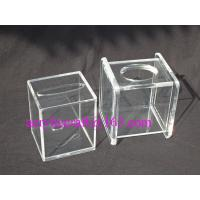 Wholesale Transparent Cube Contracted Tissue Paper Storage Box Acrylic Tissue Holder from china suppliers