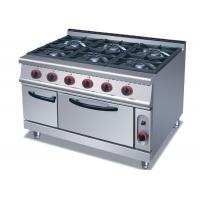 Wholesale Commercial Cooking Lines , Free Standing 4 / 6 Burners Gas Range With Oven from china suppliers