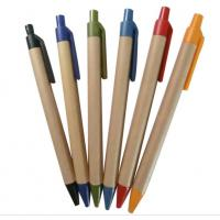 Buy cheap logo brand custom eco paper gift ball pen,wenzhou factory eco green paper pen from wholesalers