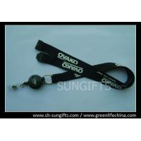Wholesale Black breakaway safety lanyard and custom badge reel combo from china suppliers
