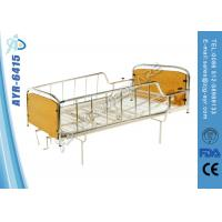 Wholesale Manual Hospital Homecare Bed With Two Cranks , Wooden Head / Foot Board from china suppliers