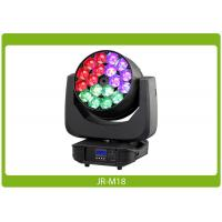 Quality LED Moving Head Beam, 18x15W, RGBW 4-in-1 Affordable Lighting Equipment for sale