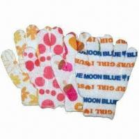 Wholesale Bath gloves, made of 100% nylon from china suppliers