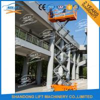 Wholesale Electric Battery Power Scissor Lift Self - propelled Mobile Battery Aerial Lift from china suppliers
