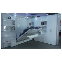 Quality Home Use Double Wall Bed With Bookshelf , white color high gloss , E1 grade MDF for sale