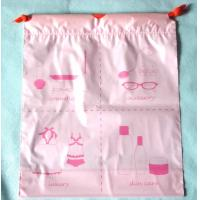 Wholesale Luxury Women's Plastic Drawstring Cosmetic Bag Customized , Pink from china suppliers
