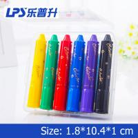 Wholesale 6 Colors Rotatable Water Soluble Crayons Non Toxic Crayons Eco Friendly from china suppliers