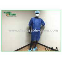 Wholesale PP SMS Material Surgical Gown with Ultrasonic Heat Seal White / Blue Color from china suppliers