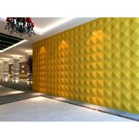 Quality Square PC 3D Decorative Wall Panel Building / Thermal Insulation Panel for sale