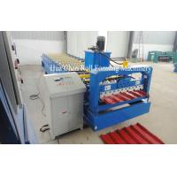 Wholesale 1220mm Raw Material Color Steel Plate Roofing Roll Forming Machine from china suppliers