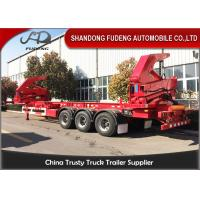 Wholesale 2 / 3 / 4 Axle Side Loader Trailer 37 Tons Lifting Capacity Mechanical Suspension from china suppliers