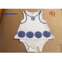 Buy cheap Sleeveless Newborn Baby Bodysuits / Round Neck Cotton Baby Romper With Foaming Screen Print from wholesalers