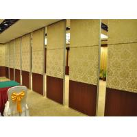 Wholesale Veneer Hotel Moveable Wall Partitions , Sound Proof Interior Door from china suppliers