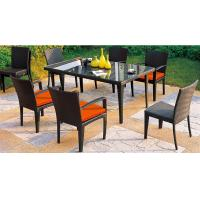 Wholesale PE rattan furniture, garden furniture, dining chair table, glass table, #1207 from china suppliers