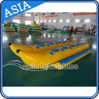 Quality Water Sleds Banana Inflatable Boats Heavy Duty For 6 Passengers Water Games for sale