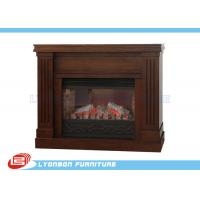 Wholesale Decorative Brown MDF European Fireplace Heating For Home , Melamine finished from china suppliers