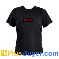 Wholesale Stylish Red LED Shirt - Large (Time + 6 Programmable Message Display) from china suppliers