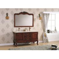 Wholesale Luxury Classic Bathroom Cabinets With Double Sink Bathroom Vanity Marbel Countertop from china suppliers