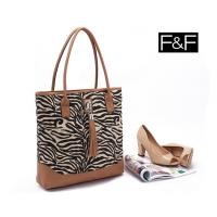 Quality wholesale Clothing accessories-F&F zebra tassel canvas shoulder bag portable female bag for sale