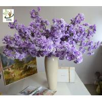 Wholesale UVG CHR130 artificial crape myrtle flowers decorative tree branches for party decoration from china suppliers