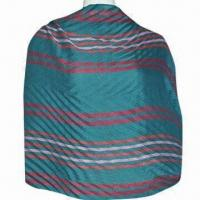 Wholesale Ladies Red Striped Crinkled Shawl, Made of 100% Polyester, ODM and OEM Orders are Welcome from china suppliers