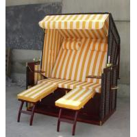 Wholesale Contemporary Dark Brown Wood And Wicker Roofed Beach Chair & Strandkorb from china suppliers