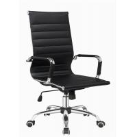 Wholesale Modern Designer Brown Leather Office Chair , Adjustable High Back Office Chair from china suppliers