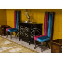 Wholesale Artistic Modern Lobby Fabric Accent Chair And Wooden Consoles Velvet Club Chair from china suppliers