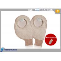 Wholesale Comfortable Drainable Two Piece Ostomy Bag Breathing non - woven 70mm Max Cut from china suppliers