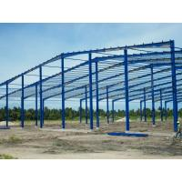 Single Span Industrial Steel Buildings Fabrication With Prefabricated